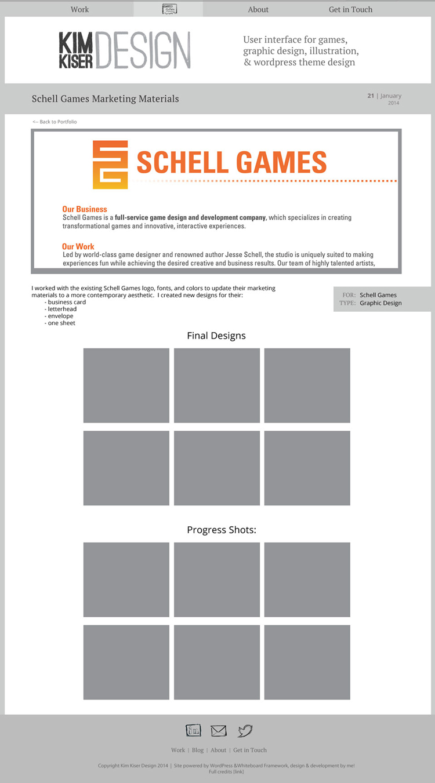 portfolio - individual page