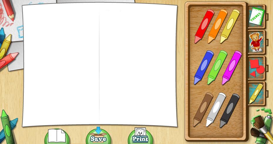 Card Creator - crayons