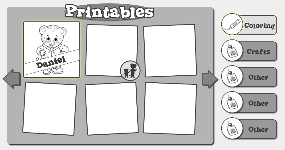 Printables directory - layout