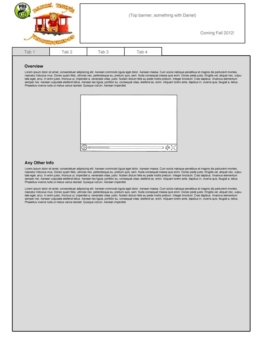 Teaser site - wireframe