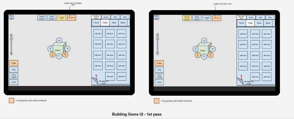 Building Game layout variations