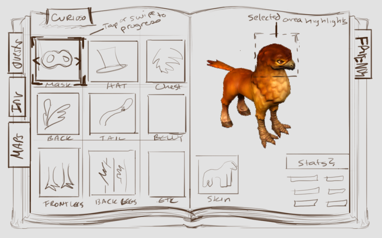 Spellbook - Augmentations page sketch