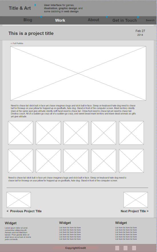 Wireframe - Individual Portfolio Page